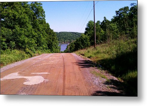 Dirt Road Metal Print featuring the photograph Hands In The Air Descent by Ruthie Snow-Cruce