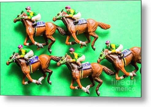 Horse Metal Print featuring the photograph Horse Racing Carnival by Jorgo Photography - Wall Art Gallery