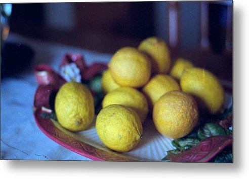 Lemons Metal Print featuring the photograph Lemons by Michael Morrison