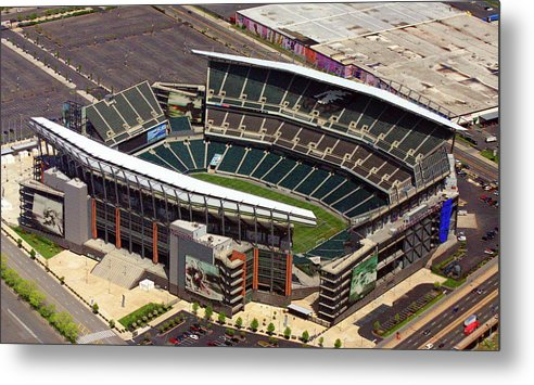 Lincoln Financial Field Metal Print featuring the photograph Lincoln Financial Field Philadelphia Eagles by Duncan Pearson