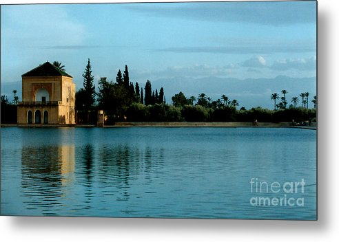 Impressionism Metal Print featuring the photograph Menara Gardens Of Morocco by Linda Parker