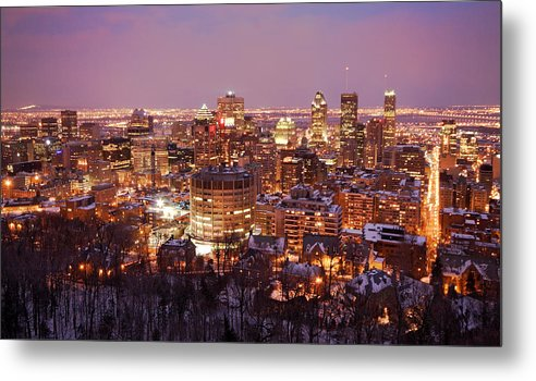 Montreal Metal Print featuring the photograph Montreal City Lights by Pierre Leclerc Photography