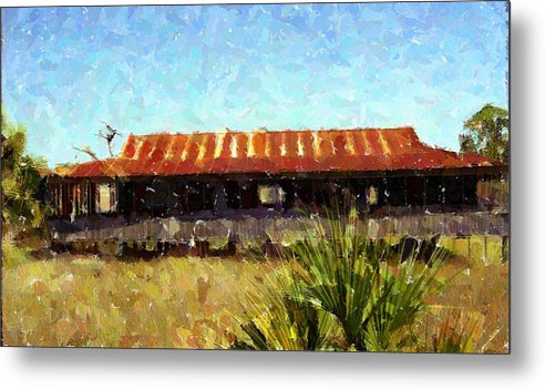 Old Florida Metal Print featuring the photograph Old Florida Paint by Michael Morrison