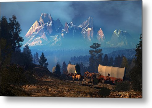 Dieter Carlton Metal Print featuring the digital art Once But Long Ago by Dieter Carlton