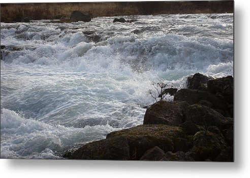 Nature Metal Print featuring the photograph Rushing Water by Marilynne Bull