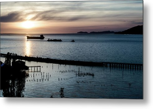 Tanker Metal Print featuring the photograph Shipping Lanes by Jacob Matilsky
