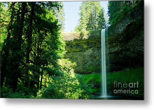 South Metal Print featuring the photograph South Falls Landscape by Nick Boren