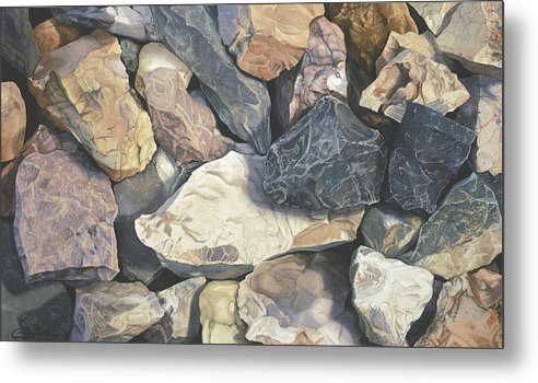 Stones Metal Print featuring the painting Square One by Craig Gallaway