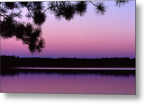 Sunset Metal Print featuring the photograph Sunset And Pine 2 by Lyle Crump