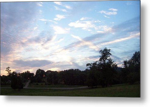 Landscape.skyscape Metal Print featuring the print Tennessee Nites by Beverly Baxter