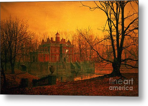 Bal9665 Metal Print featuring the painting The Haunted House by John Atkinson Grimshaw