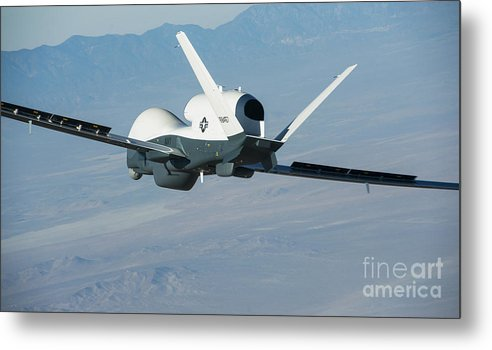 Sailors Metal Print featuring the painting The Northrop Grumman-built Triton Unmanned Aircraft System by Celestial Images
