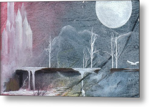 Castle Metal Print featuring the painting The Realm Of Queen Astrid by Jackie Mueller-Jones