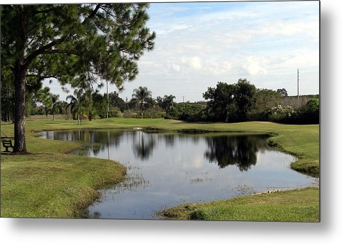 Landscape Photographs Metal Print featuring the photograph Tranquil Pool by Frederic Kohli