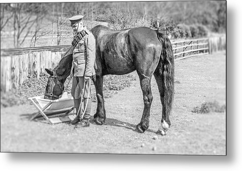 Army Metal Print featuring the photograph Trooper by Darren Turner