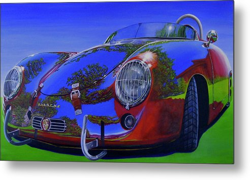 Car Metal Print featuring the painting Tub Effects by Lynn Masters