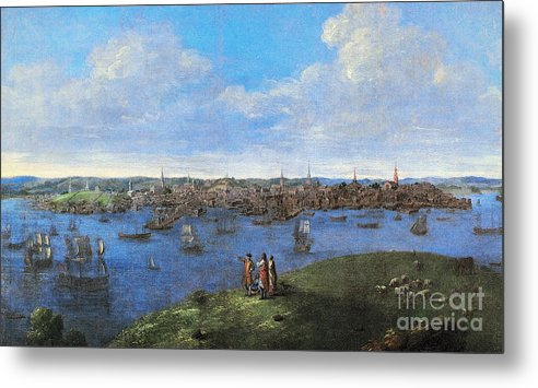 1738 Metal Print featuring the photograph View Of Boston, 1738 by Granger