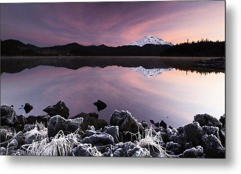 Frost Metal Print featuring the photograph Winter Lake Frost by Billy Soden