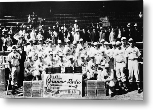 Mlb Metal Print featuring the photograph The 1934 St. Louis Cardinals by Retro Images Archive