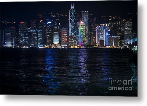 Hong Kong Metal Print featuring the photograph Victoria Harbor by Rene Fuller