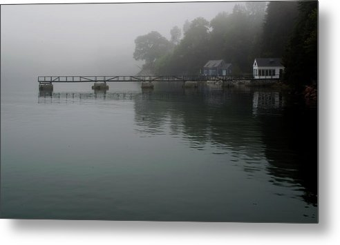 Ocean Metal Print featuring the photograph Long Walk On A Foggy Day by John Graham