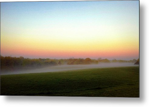 Fog Metal Print featuring the photograph Fields Of Fog by Cricket Hackmann