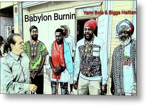 Metal Print featuring the photograph Rastaman by Bigga Haitian