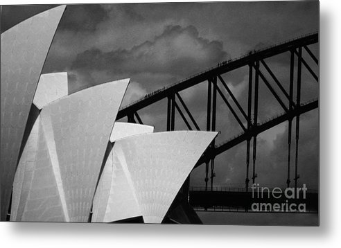 Sydney Opera House Metal Print featuring the photograph Sydney Opera House With Harbour Bridge by Sheila Smart Fine Art Photography