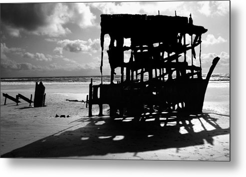 Shipwreck Metal Print featuring the photograph The Wreckage Of The Peter Iredale II by Todd Fox