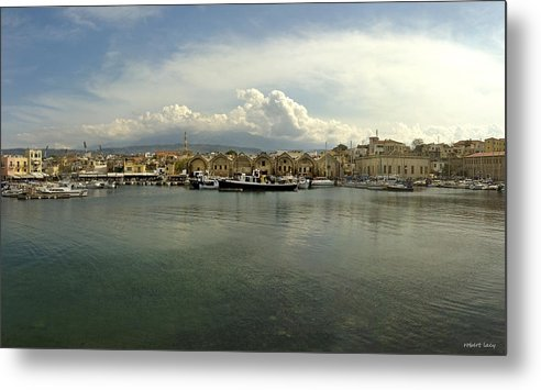 Venetian Harbour Metal Print featuring the photograph Venetian Harbour Hania by Robert Lacy