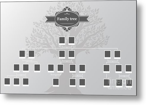 Couple Metal Print featuring the digital art Genealogical Tree Of Your Family.hand by Galastudio