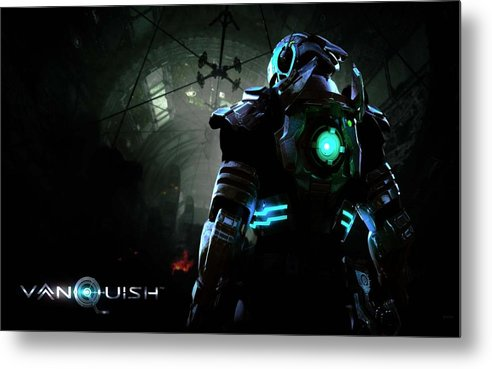 Video Game Metal Print featuring the photograph Vanquish by Martin Quach