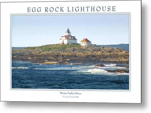 Landscape Metal Print featuring the photograph Egg Rock Island Lighthouse by Peter Muzyka
