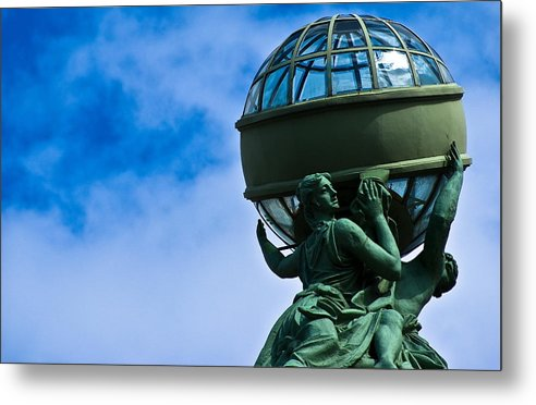 The Sky Metal Print featuring the photograph Spinning The Earth by Vadim Grabbe