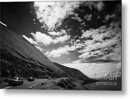 Ireland Metal Print featuring the photograph cars on the road around the Iveragh Peninsula Ring of Kerry by Joe Fox