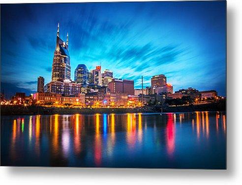 Nashville Metal Print featuring the photograph Nashville Twilight by Lucas Foley