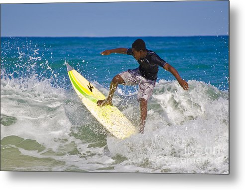 Surfing Metal Print featuring the photograph Alex 16 Year Old Pro Surfer by John Lee Montgomery III