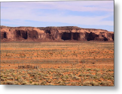 Monument Valley Metal Print featuring the photograph Monument Valley Pen by Viktor Savchenko
