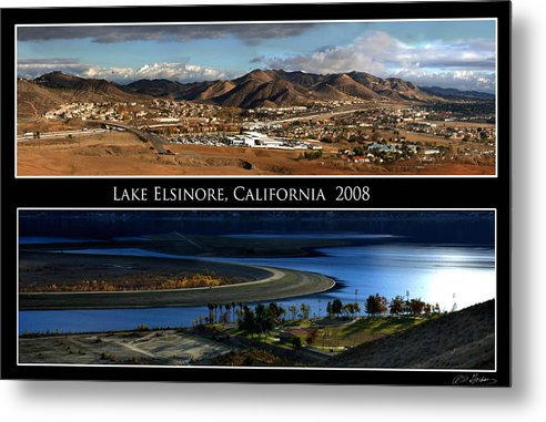 Landscape Metal Print featuring the photograph Lake Elsinore 180 Degrees by Richard Gordon