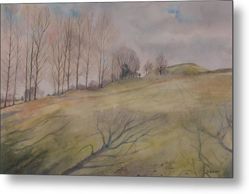 Shadows Metal Print featuring the painting March Shadows by Debbie Homewood