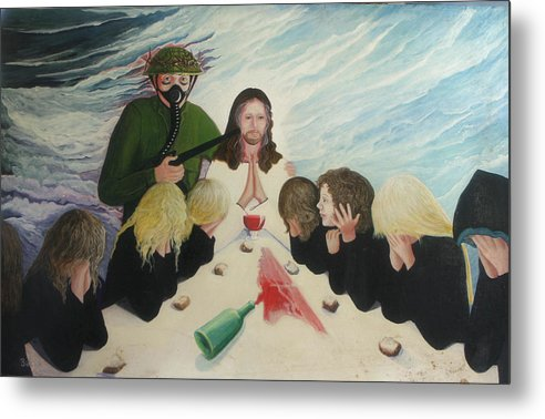 Religious Metal Print featuring the painting The Dream by Georgette Backs
