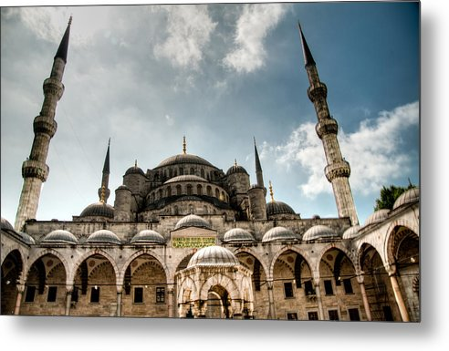 Turkey Metal Print featuring the photograph Blue Mosque by Erdal Oskay