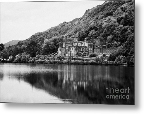 Ireland Metal Print featuring the photograph Kylemore Abbey Reflected In The Lake Connemara Galway Ireland by Joe Fox