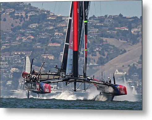 Ac34 Metal Print featuring the photograph America's Cup San Francisco by Steven Lapkin
