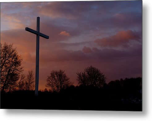 Cross Metal Print featuring the photograph A New Day Dawning by Paul R Sell Jr