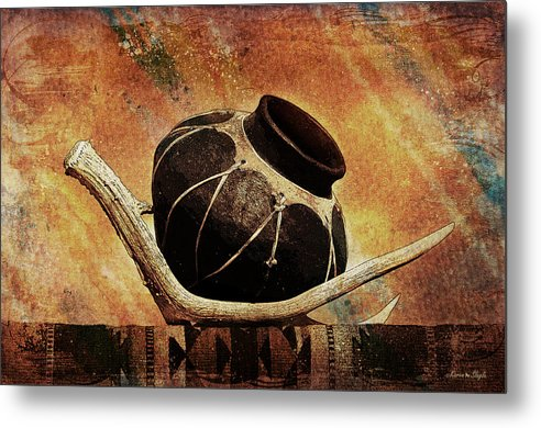 Antler Metal Print featuring the photograph Antler And Olla by Karen Slagle