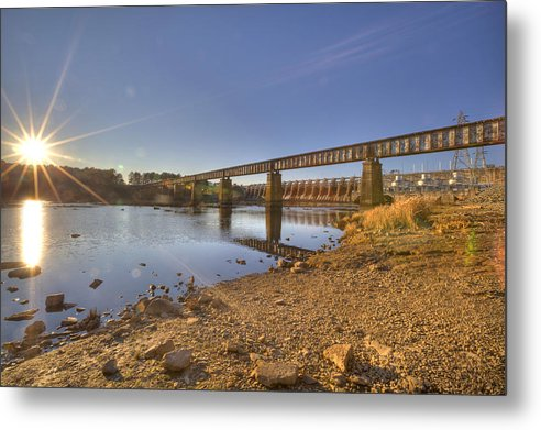 Hydro Dam Metal Print featuring the photograph Backyard Hydro by Jackie Frick Smith