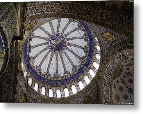 Turkey Metal Print featuring the photograph Blue Mosque Dome by Erdal Oskay