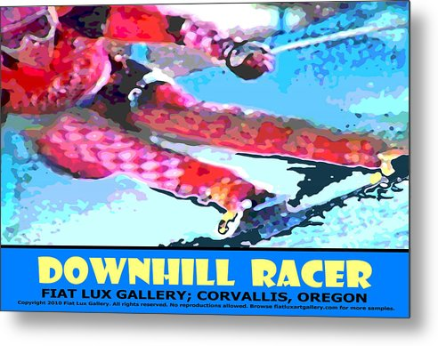 Skiing Metal Print featuring the digital art Downhill Racer by Michael Moore