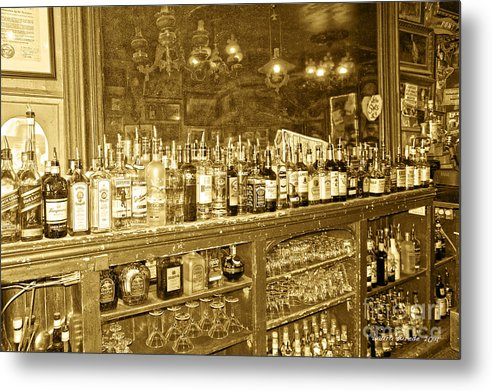 Genoa Bar Metal Print featuring the photograph Genoa Bar Oldest Saloon In Nevada's Old West History by Artist and Photographer Laura Wrede